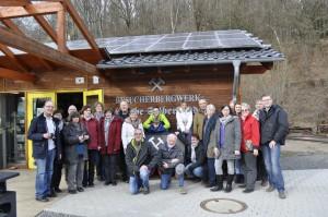 Der Folklorekreis Gütersloh im Besucherbergwerk Grube Silberhardt.